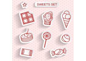 简洁单色文艺清新糖果甜品巧克力图标设计