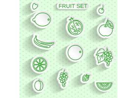 简洁单色文艺清新水果图标设计
