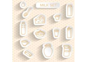 简洁单色文艺清新牛奶早餐图标设计
