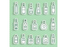 简洁单色文艺清新瓶子图标设计