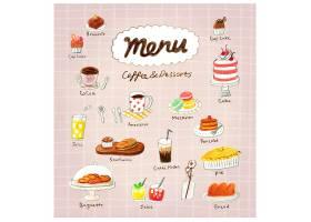 手绘卡通小清新甜品面包糕点主题插画设计