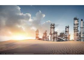 可持续发展新能源太阳能风能水能石油资源主题海报设计