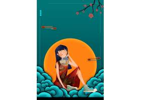 创意时尚手绘国潮风插画海报装饰背景