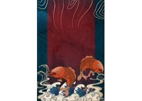 鲤鱼国潮插画