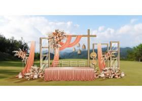 时尚浪漫婚礼签到处留影区造型效果图设计