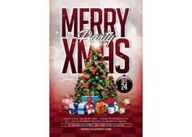 ,圣诞节宣传单页