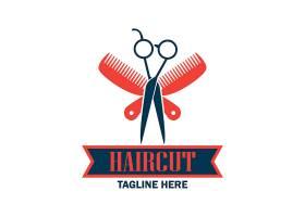 梳子剪刀理发店标志