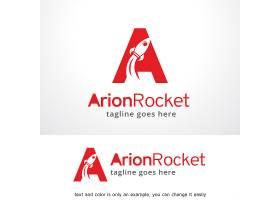 红色火箭主题形象LOGO设计
