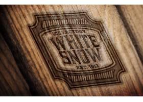 木纹LOGO标签展示样机
