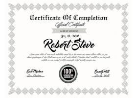 时尚大气荣誉证书授权书证书模板