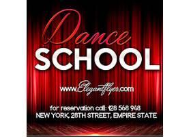 舞蹈学校招生海报设计