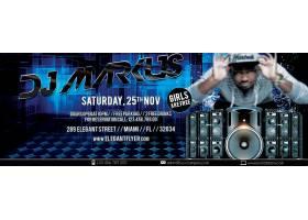 复古DJ音乐派对主题海报设计