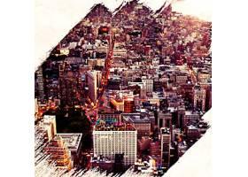 复古城市主题海报设计