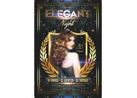 性感优雅的夜主题海报设计