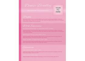 粉色商务通用个人求职简历模板