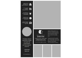 商务通用时尚的英文版传单海报设计