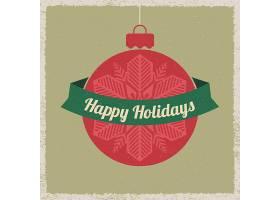 简洁个性平安夜圣诞节新年主题标签设计