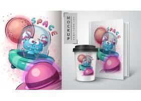 清新个性杯子笔记本相片卡通印刷图案设计