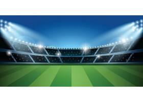 足球场背景主题体育运动项目矢量插画