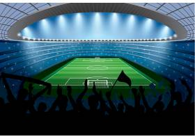 足球场主题体育运动项目矢量插画