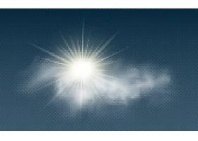 太阳光光影光晕云彩免扣素材
