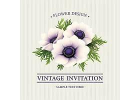植物花卉主题装饰标签设计