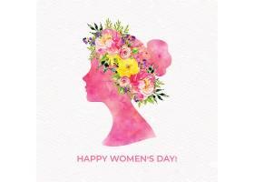 创意三八妇女节主题矢量插画