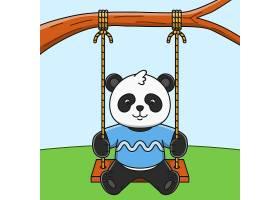 简洁个性熊猫形象装饰插画设计