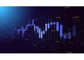 股市走势数据矢量图