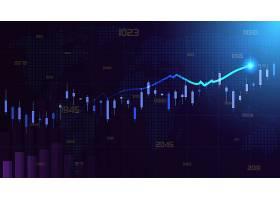股市数据矢量图