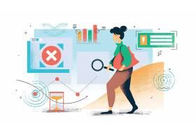 清新手绘现代人物互联网生活主题矢量装饰插画