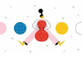 个性抽象人物行为主体插画设计