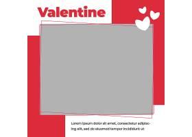 照片展示浪漫情人節主題標簽裝飾背景