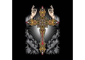 十字架插画形象主题LOGO徽章图标设计