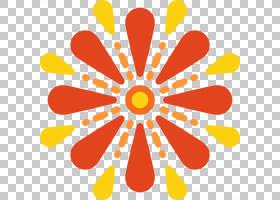 花线艺术,食物,对称性,面积,圆,线路,花瓣,橙色,花,黄色,3D计算机