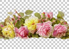 花艺水彩画,人造花,花瓣,植物,花卉设计,蔷薇,玫瑰秩序,花束,黄色