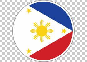 菲律宾国旗,圆,面积,线路,花,黄色,世界旗帜,旗帜,符号,菲律宾独