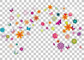 粉红色花卡通,花卉设计,线路,植物群,粉红色,花瓣,卡通,花,黄色,