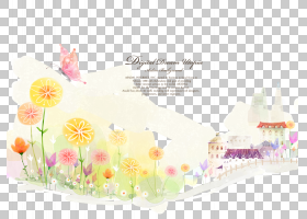 夏季海报背景,花卉设计,花瓣,花,黄色,文本,植物群,夏天,卡通,绘