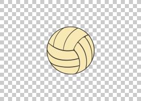 排球卡通,圆,线路,球体,足球,体育,黄色,绘图,球,排球,