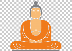 背景海报,线路,冥想,橙色,手,坐着,海报,佛教,佛陀,成佛,图片
