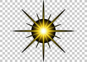 细菌卡通,圆,线路,黄色,天空,能源,对称性,星形,犬细小病毒,噬菌