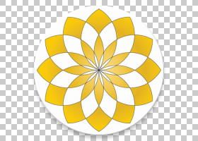 伊斯兰花卉背景,线路,花瓣,对称性,圆,花,黄色,内城穆斯林行动网,