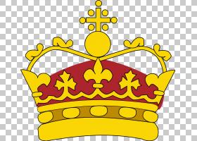 花冠,线路,花,黄色,食物,面积,皇国皇冠,纹章,纹章学,武器之王,神