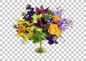 花卉背景,中心件,植物,紫色,插花,黄色,百合,礼物,周年纪念,韩国图片