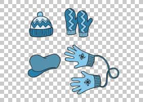 冬季卡通,技术,线路,手,文本,面积,鞋,模板,蓝色,夹克,围巾,帽子,