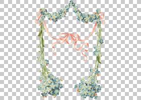 水彩花环,花卉设计,创意艺术,线路,点,植物群,水彩画,粉红色的花,
