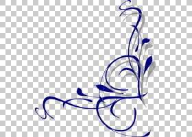 蓝花边框和框架,圆,分支,书法,植物,花,线路,黑白,线条艺术,叶,紫