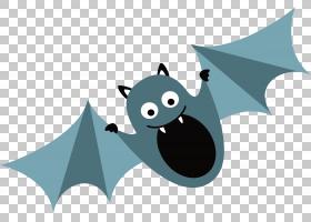 万圣节图案背景,卡通,字体,设计,模式,蓝色,万圣节,蝙蝠,