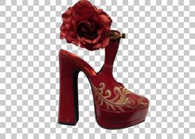 红花,鞋类,户外鞋,高跟鞋,花,Aurkezle,红花,红色,凉鞋,脚跟,鞋,
